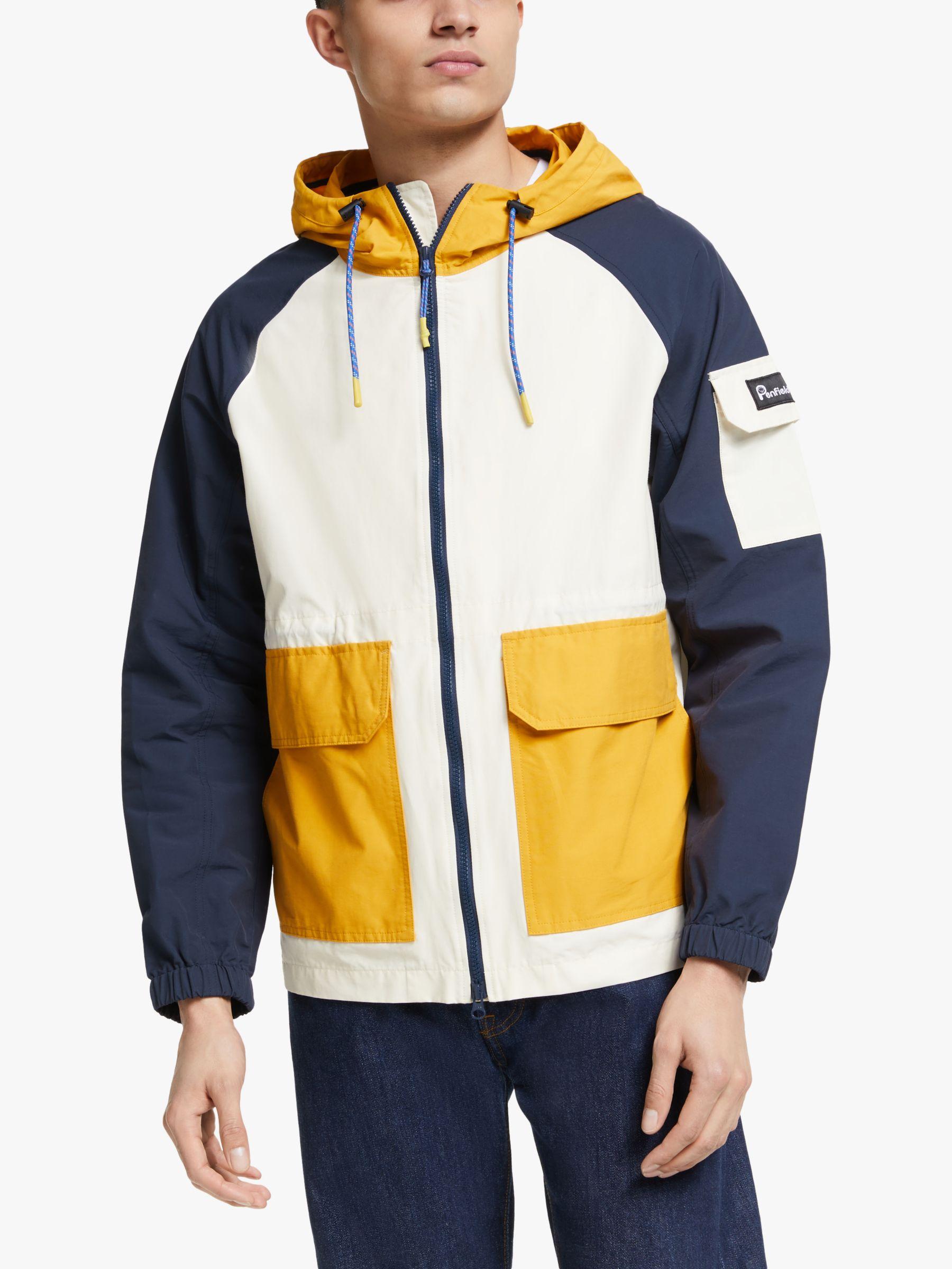 Penfield Penfield Halcott Colour Block Jacket, Mineral Yellow