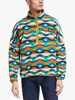 Penfield Melwood Geo Print Fleece, Teal Print