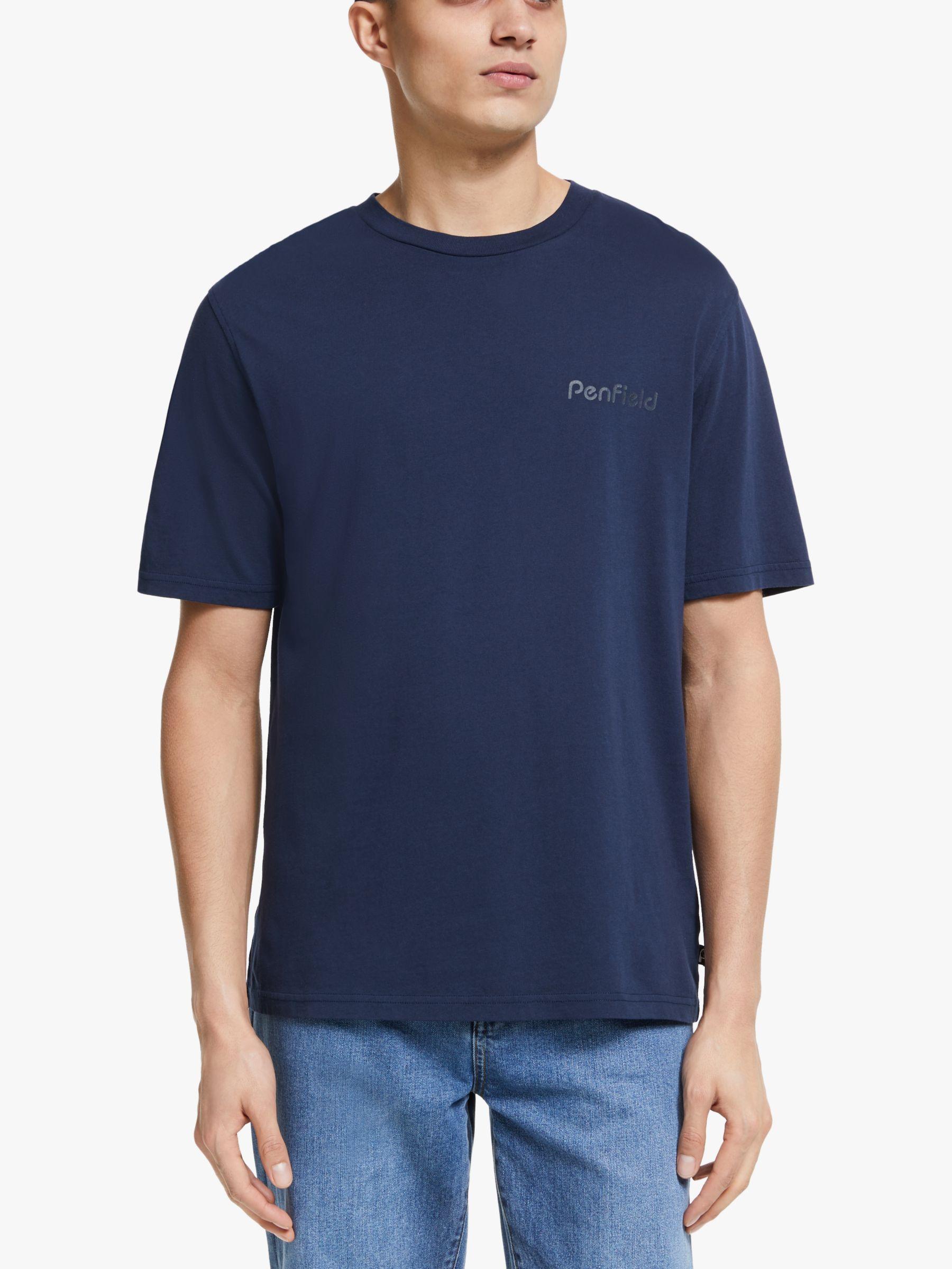 Penfield Penfield Wallpole Logo Organic Cotton T-Shirt, Navy
