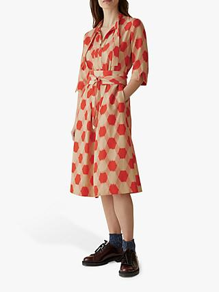 Toast Honeycomb Print Dress, Spiced Orange