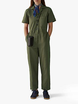 Toast Cotton Twill Jumpsuit, Artichoke