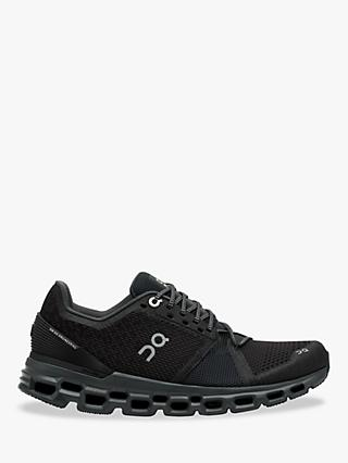 On CloudStratus Women's Running Shoes, Black/Shadow