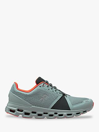 On CloudStratus Men's Running Shoes, Cobble/Ivy