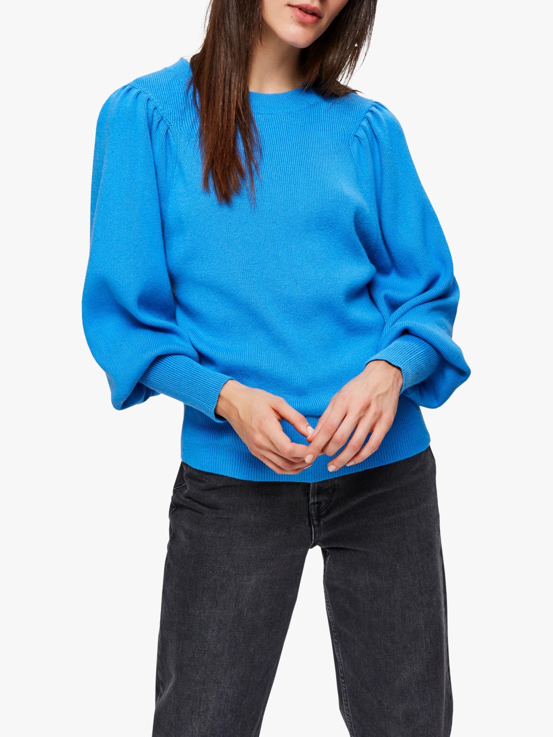 Selected Femme Selected Femme Puff Sleeve Jumper, Campanula Blue