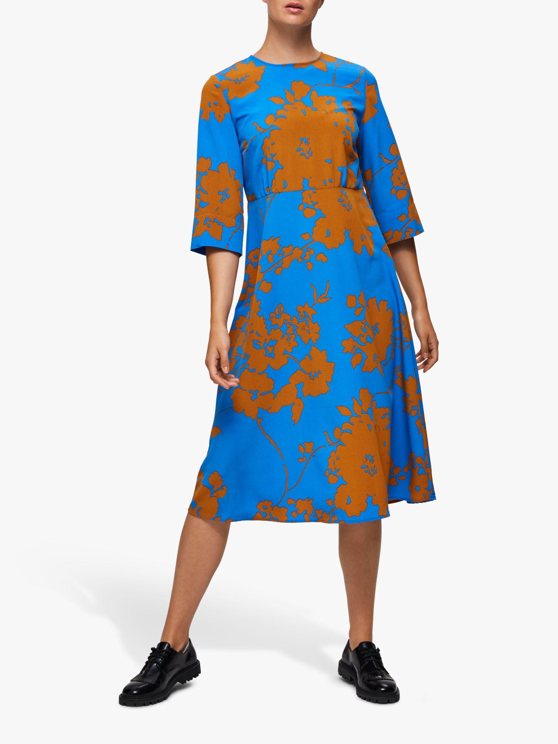 Selected Femme Selected Femme Jade Oriana Dress, Campanula Blue