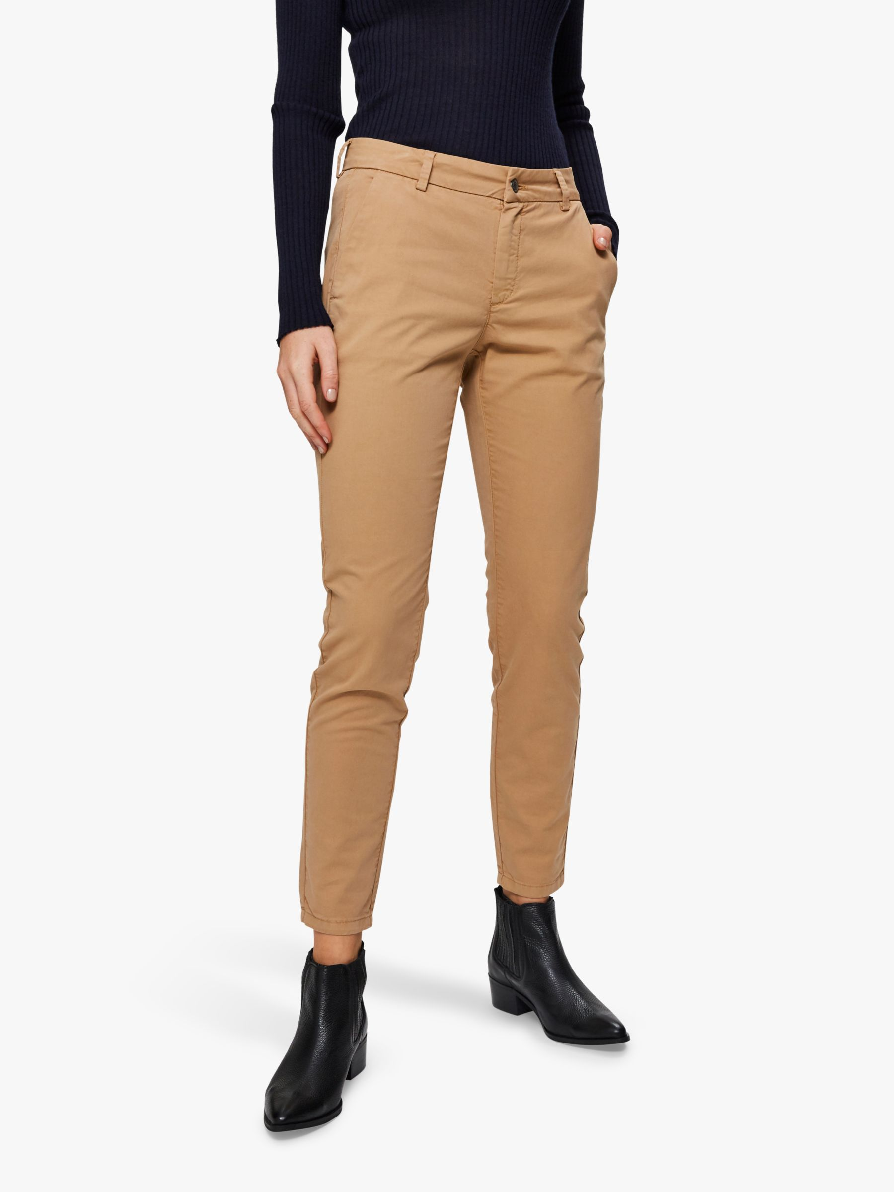 Selected Femme Selected Femme Megan Chino Trousers, Tannin