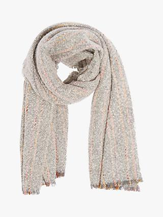 Oasis Colour Flash Boucle Scarf, Grey