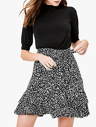 Oasis 2-In-1 Skater Dress, Black/Multi