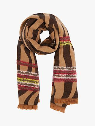 Oasis Colour Flash Tiger Scarf, Brown