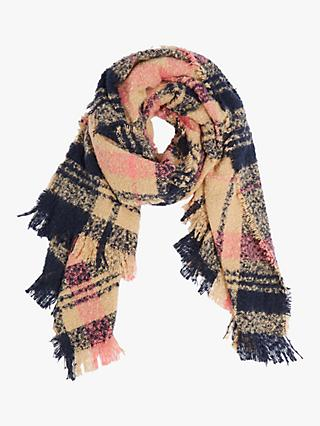 Oasis Boucle Check Scarf, Multi