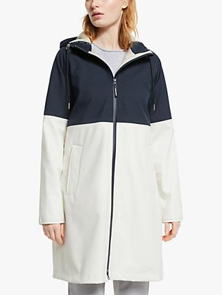 Ilse Jacobsen Hornbæk Two Tone Rain Coat, Dark Indigo/Multi