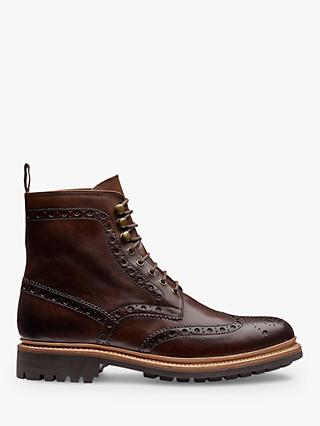 Grenson Fred Brogue Boots, Brown