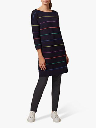 Phase Eight Savannah Striped Dress, Navy/Multi