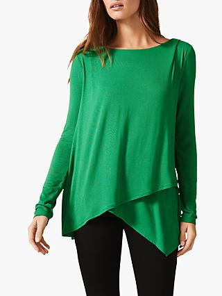 Phase Eight Elvira Asymmetric Top, Green