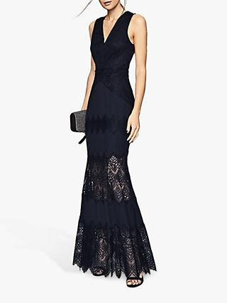 Reiss Adala Lace Maxi Dress, Navy