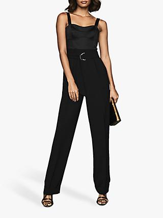 Reiss Natalia Jumpsuit, Black