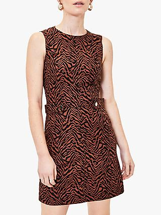 Oasis Animal Jacquard Dress