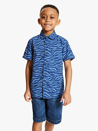 John Lewis & Partners Boys' Zebra Stripe Shirt