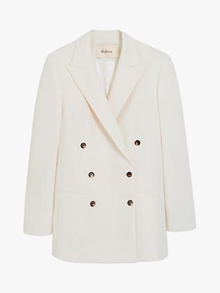 Mulberry Cara Blazer Jacket, Off White