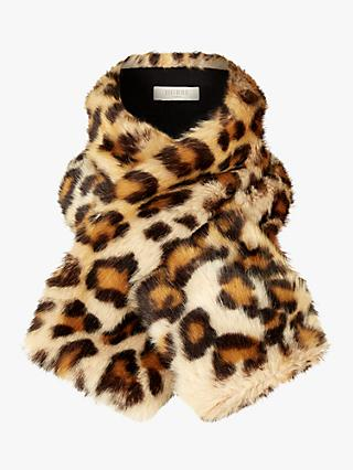 Hobbs Leigh Faux Fur Neck Wrap, Leopard