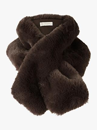 Hobbs Leigh Faux Fur Neck Wrap, Charcoal