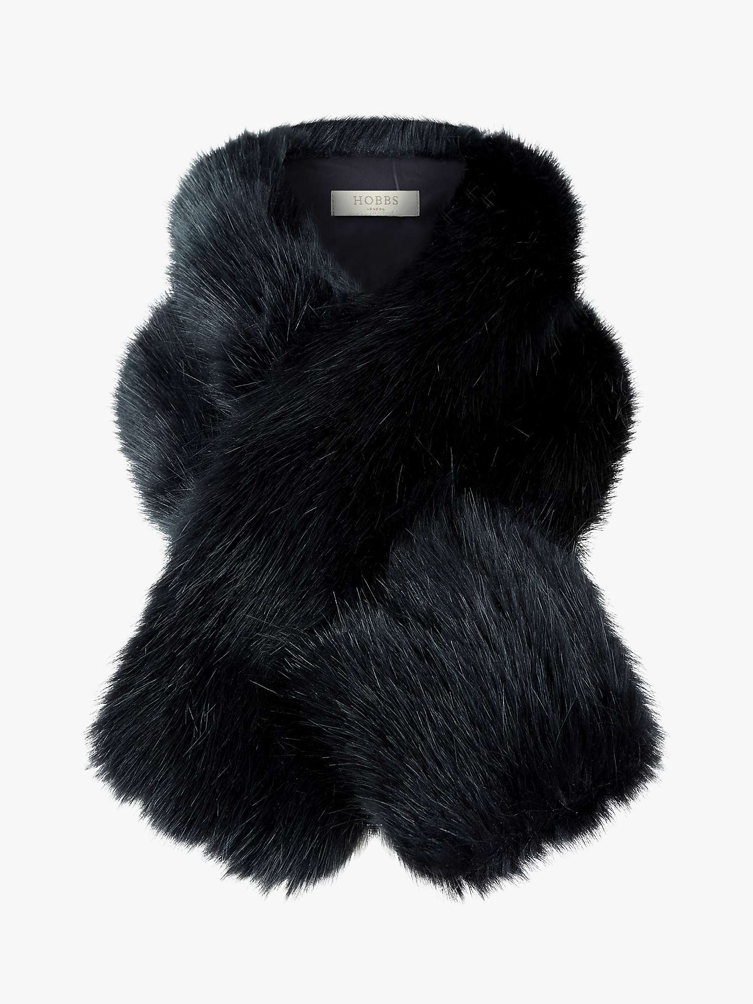 Hobbs Leigh Faux Fur Neck Wrap, Navy by Hobbs