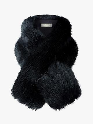 Hobbs Leigh Faux Fur Neck Wrap, Navy