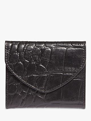Phase Eight Darby Croc Effect Leather Card Holder