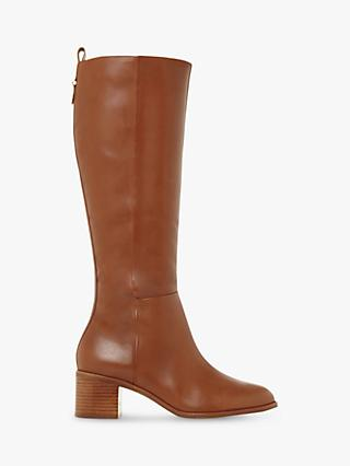 Dune Truth Pull-Tab Detail Knee High Boots