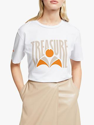 Gestuz Treasure Print T-Shirt, Bright White