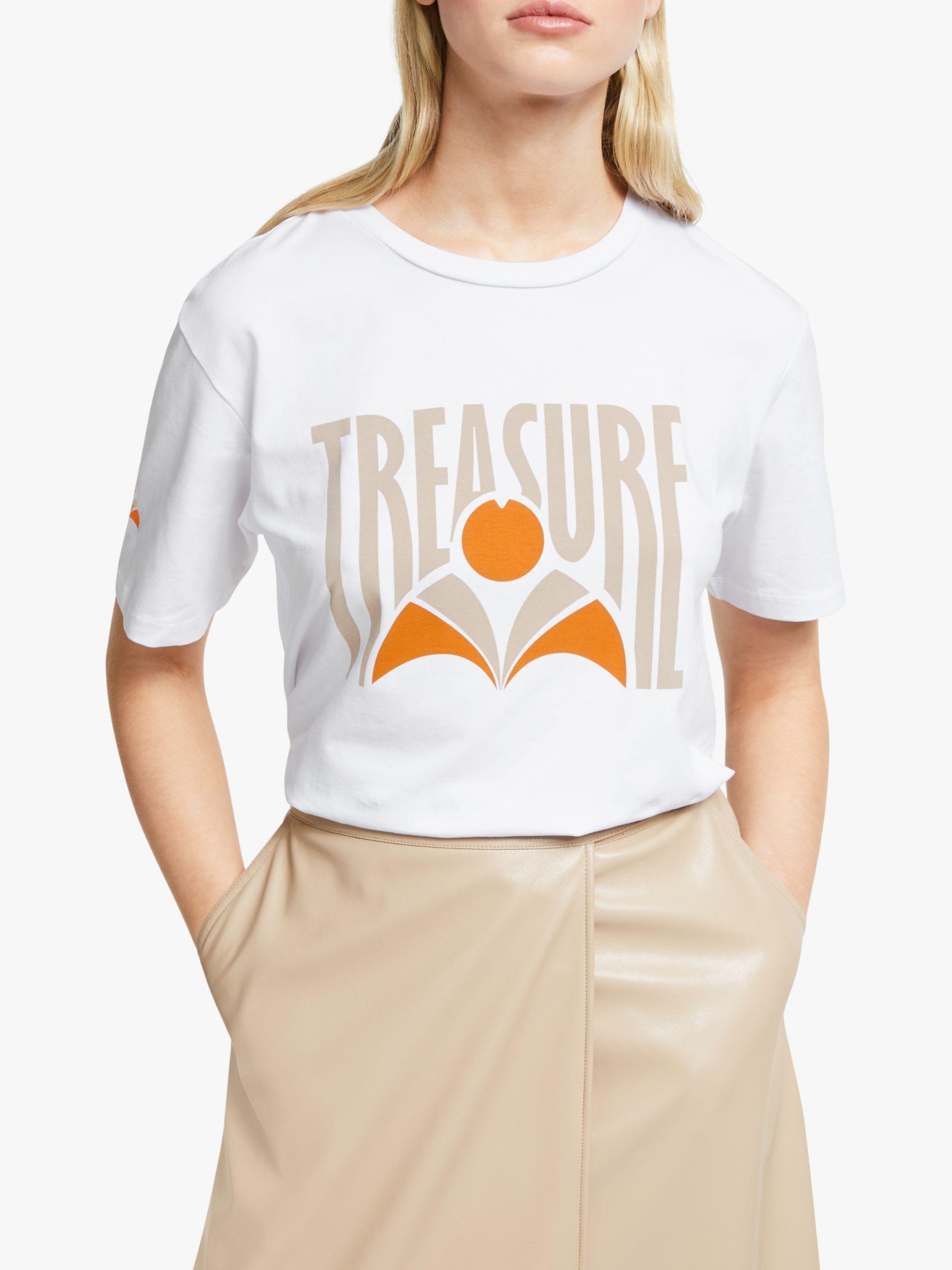 Gestuz Gestuz Treasure Print T-Shirt, Bright White