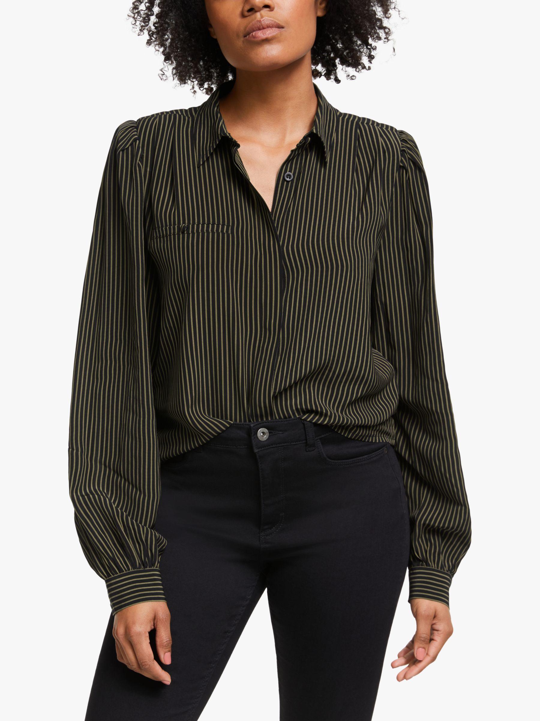 Gestuz Gestuz Levira Stripe Shirt, Black/Capers