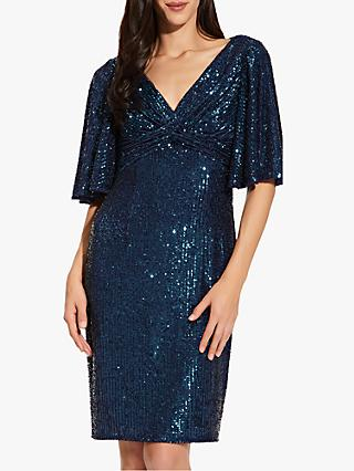 Adrianna Papell Sequin Midi Dress, Twilight