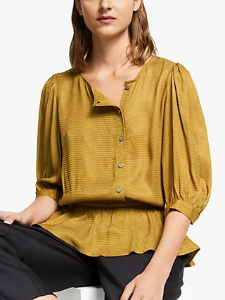 Gestuz Merlegz Blouse, Bone Brown