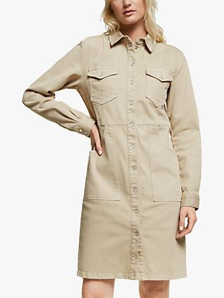 Gestuz Naemigz Denim Shirt Dress, Safari