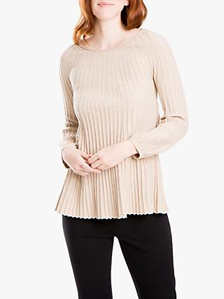 Max Studio Long Sleeve Pleated Knit