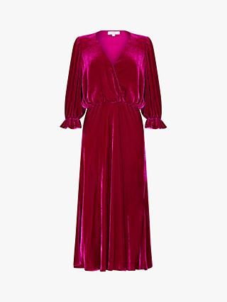 Ghost Silk Velvet Gracie Dress