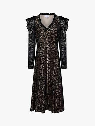 Ghost Esme Lace Dress, Black