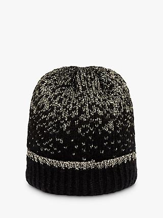 Phase Eight Leya Lurex Hat, Black