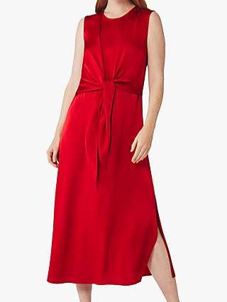Ghost Kari Midi Dress, Pompeian Red