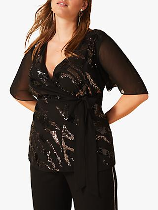 Studio 8 Polly Sequin Top, Black