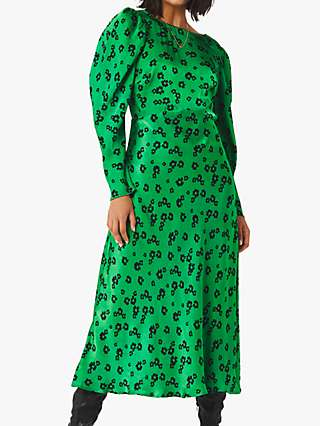 Ghost Rosaleen Daisy Floral Satin Dress, Quant Scatter Daisy