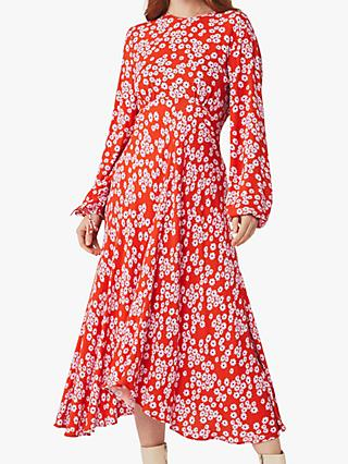 Ghost Annie Floral Midi Dress, Bella Rose