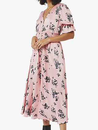 Ghost Anna Floral Print Dress, Melania Meadow