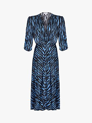 Ghost Lissa Animal Stripe Dress, Blue Zebra