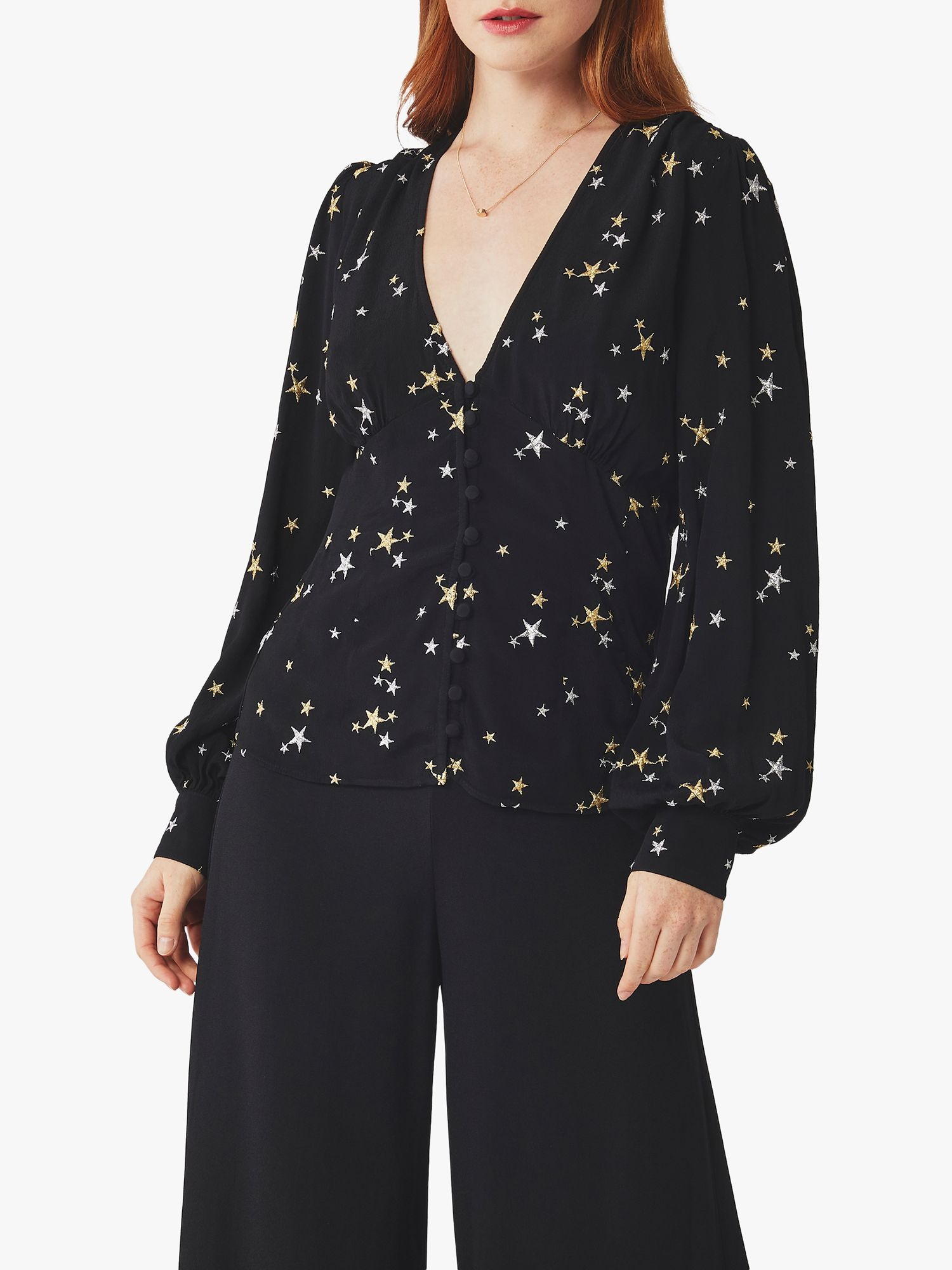 Ghost Ghost Amina Crepe Blouse, Black