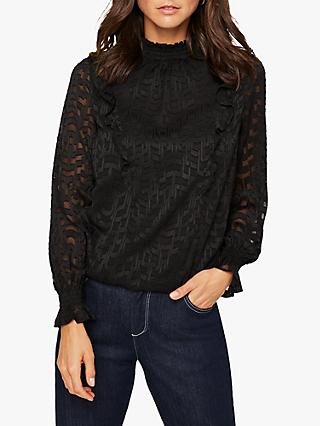 Damsel in a Dress Ninian Devore Blouse, Black