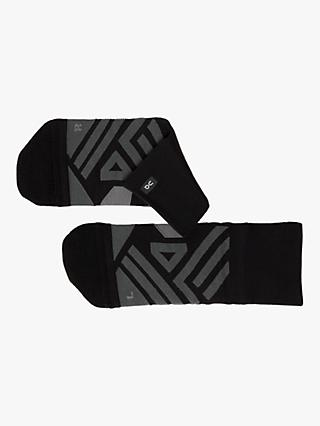 On Mid Men's Running Socks, Black/Shadow
