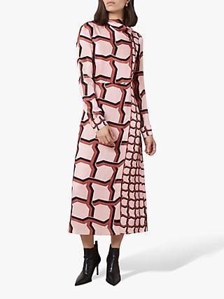 Finery Lyla Geo Print Dress, Pink