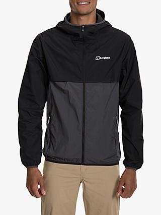 Berghaus Corbeck Men's Hooded Jacket, Jet Black/Grey